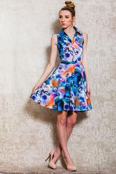 KINGDOM B. > Print Dresses > #LI1325 − LAShowroom.com