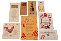 A selection of eight Chez Panisse Café and restaurant menus by various artists. The collection includes two letterpress menus by Patricia Curtan.