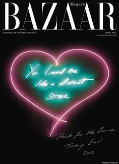Limited edition tribute cover by Tracey Emin for David Bowie
