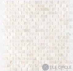 "Kitchen Backsplash.   Genuine Mother of Pearl Shell Tile White 5/8"" x 1"" Minibricks (On a 12"" X 12"" Mesh) for Backsplash and Bathroom Walls and Floors Tile Circle http://www.amazon.com/dp/B0071F8KPO/ref=cm_sw_r_pi_dp_xkl5vb0F98AD7"