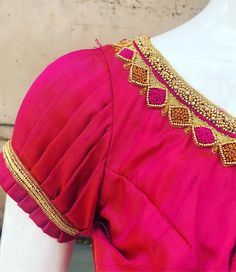 Best 12 Image may contain: one or more people and closeup Kids Blouse Designs, Simple Blouse Designs, Stylish Blouse Design, Hand Designs, Pattu Saree Blouse Designs, Blouse Designs Silk, Bridal Blouse Designs, Gold Fashion, Dress Fashion