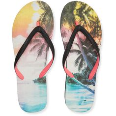 706d54acd2c85e Aeropostale Tropical Dream Flip-Flop ( 5) ❤ liked on Polyvore featuring  shoes