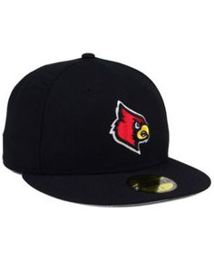 check out a5f1f e064a New Era Louisville Cardinals Ac 59FIFTY Fitted Cap - Black 7 3 4 Louisville  Cardinals