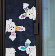 Easter Bunnies Window Clings/Stickers for Easter Games/ E...