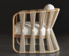 Chair woven rattan wicker indoor outdoor