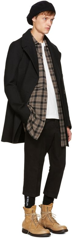 Rick Owens - Grey Check Field Shirt