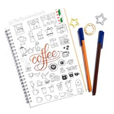 Catching up with Day 025 -coffee icons. 👉 100 days of doodle icons… Planner Doodles, Bujo Doodles, Doodle Drawings, Doodle Art, Coffee Doodle, Coffee Icon, Coffee Art, Visual Note Taking, Note Doodles