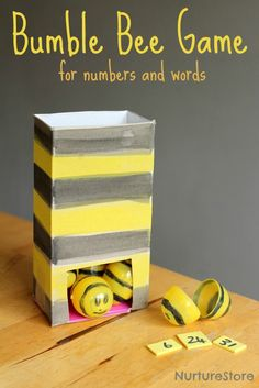 Fun bumble bee game for numbers and words. Great spelling or math game.