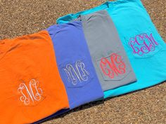 Monogram Comfort Colors Pocket Tee - Monogram Women's Clothing - Custom Designed Clothing - by WomanRevivalMonogram on Etsy https://www.etsy.com/listing/478407145/monogram-comfort-colors-pocket-tee