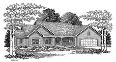 Ranch House Plan with 1962 Square Feet and 3 Bedrooms from Dream Home Source   House Plan Code DHSW09130