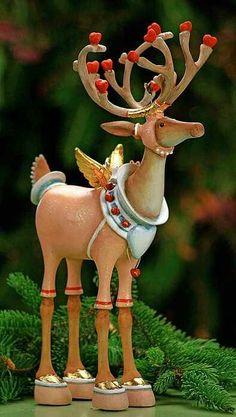 Cupid Reindeer Figure by Patience Brewster