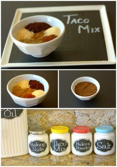 Homemade Taco Mix :: an economical version of a pantry staple that I always have on hand. #homemademixes