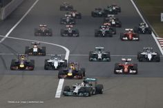 Start of the 2014 Chinese Grand Prix.