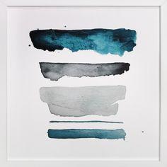 of land and sea - deep Art Print - Limited Edition by Kiana Mosley Illustrations, Illustration Art, Deep Paintings, Wall Art Prints, Fine Art Prints, Diy Playbook, Deep Art, Colorful Wall Art, Blue Art