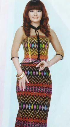 Organza, myanmar textile, simple myanmar fashion