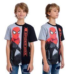 IM Marvel Little Boys' Split Tee Spiderman T-shirt Big Boys, Little Boys, Cute Boys, Superhero Clothes, Marvel Kids, Super Hero Outfits, Summer Suits, Poses, Boys T Shirts