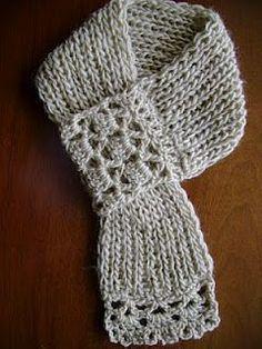 cute crochet scarf..love this!