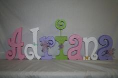 Nursery letters Baby name letters pink and purple nursery letters