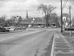 Rutland, Vermont, 1970 -Here we're at the intersection of Woodstock Avenue and North Main Street, looking west.