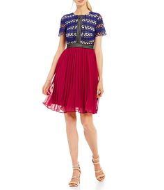 Shop for Jax Printed Lace Top Bodice Pleated Skirt Dress at Dillards.com. Visit Dillards.com to find clothing, accessories, shoes, cosmetics & more. The Style of Your Life.