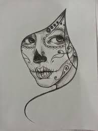 Αποτέλεσμα εικόνας για girl skull sketch tattoo