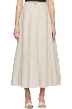 Designer Clothes, Shoes & Bags for Women | SSENSE Goyard Bag, Mid Length Skirts, Patent Leather, Leather Flats, Poplin, Midi Skirt, Darts, Cotton, Hardware