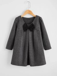 Toddler Girls Bow Front Smock Dress – Kidenhouse Toddler Girl Dresses, Girls Dresses, Toddler Girls, Smock Dress, Dot Dress, Girls Bows, Lace Bodice, Babydoll Dress, Types Of Sleeves