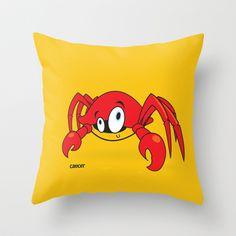 funny zodiac/cancer Throw Pillow by mangulica - $20.00