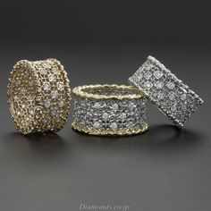 Buccellati Style ~ Lace Diamond Rings