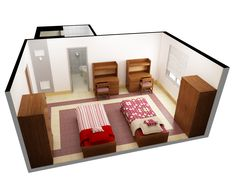 Bedroom Designer Online Free 3D Floor Plan Software Free With Nice Double Single Bed Design For