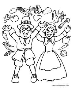 Printable Thanksgiving coloring sheets 32
