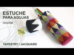 Tutorial Estuche Porta Agujas Tapestry o Jaquard Crochet o Ganchillo - YouTube