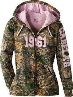 cabelas pink/camo hoodie