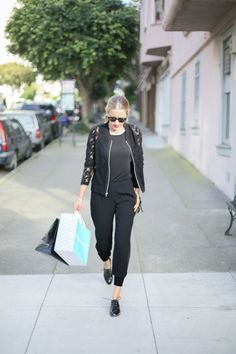 @memorandumblog looking fabulous her comfy/chic Chico's outfit.