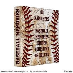 Shop Best Baseball Senior Night Gifts Baseball Binder created by YourSportsGifts. Personalize it with photos & text or purchase as is! Baseball Dugout, Baseball Pitching, Baseball Training, Baseball Gifts, Baseball Players, Baseball Cards, Baseball Stuff, Baseball Teams, Senior Night Gifts