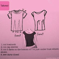 DIY TUTORIAL: Tailored t-shirt