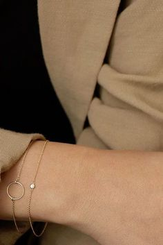 Delicate gold bracelets for your everyday. http://www.thesterlingsilver.com/product/citizen-watch-womens-eco-drive-watch-with-silver-dial-analogue-display-and-brown-leather-strap-fe1082-05a/