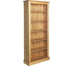 Buy Collection 5 Shelf Tall Wide Extra Deep Solid Pine Bookcase | Bookcases and shelving units | Argos