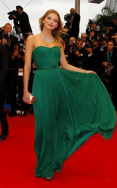 Lily Donaldson  emerald green dress, Love this as a bridesmaid dress!