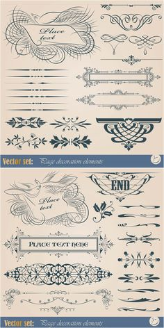 Vintage wedding ornaments vector wedding inspiration pinterest vintage ornamental embellishment elements vector stopboris Choice Image