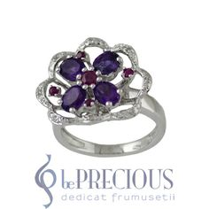 Inel argint pietre (semi)pretioase - www.beprecious.ro Heart Ring, Sapphire, Engagement Rings, Jewelry, Rings For Engagement, Jewellery Making, Wedding Rings, Jewels, Commitment Rings