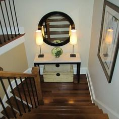 Tips on Decorating Your Stairway {Stairways}