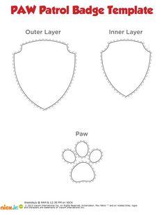 Paw Patrol Badge Black And White <b>paw patrol badge</b>, <b>paw patrol</b> and <b>badges</b> on pinterest