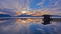 Goodmornig Messolongi by Nikosmit Greece, Celestial, Explore, Sunset, Landscape, Beach, Water, Travel, Outdoor