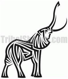 :::: ♡ ♤ ✿⊱╮☼ ☾ PINTEREST.COM christiancross ☀❤•♥•*[†]⁂ ⦿ ⥾ ⦿ ⁂  ::::Tribal Elephant Tattoos