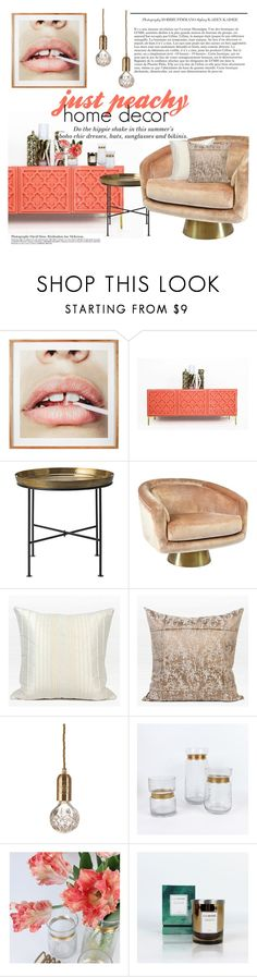 """""""just peachy home decor"""" by ghomecollection on Polyvore featuring interior, interiors, interior design, home, home decor, interior decorating, DAY Birger et Mikkelsen, Jonathan Adler, H&M and Lee Broom"""
