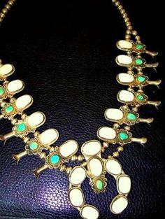 Vintage Sterling Squash Blossom Necklace at  http://www.etsy.com/shop/NoMinimalist