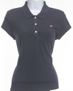 Womens Ralph Lauren Polo Shirt Size Medium Navy Blue Short Sleeve Top Women Sz M #RalphLaurenPoloJeans #PoloShirt #CasualVersatile