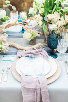 Beachy blue wedding