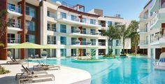 All-inclusive family resort in Riviera Maya Mexico All Inclusive Honeymoon Resorts, Beach Resorts, Hotels And Resorts, Best Honeymoon Packages, Vacation Packages, Mexico Costa Rica, Azul Fives, Grand Luxe, Riviera Maya Mexico